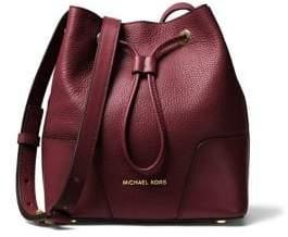 MICHAEL Michael Kors Cary Small Leather Bucket Bag