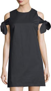 J.o.a. Bow-Sleeve Cold Shoulder Dress