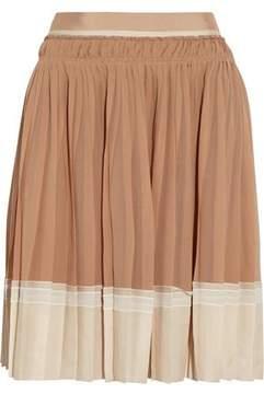 Vanessa Bruno Plissé Silk-Georgette Skirt