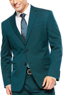 Jf J.Ferrar JF Teal Suit Jacket - Super Slim Fit