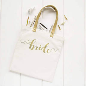 Cathy's Concepts CATHYS CONCEPTS Gold Foil Bride Canvas Tote