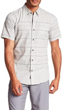 Burnside Short Sleeve Striped Woven Regular Fit Shirt