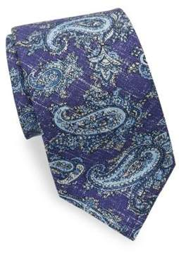 Isaia Washed Paisley Tie