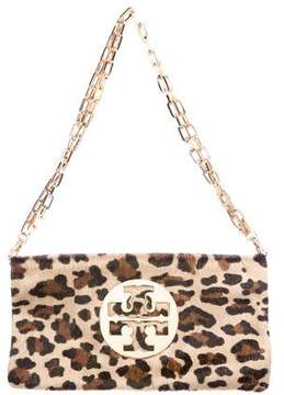 Tory Burch Ponyhair Chain-Link Shoulder Bag - ANIMAL PRINT - STYLE