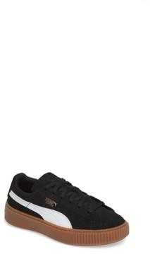 Puma Girl's Suede Platform Sneaker