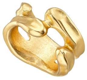 Uno de 50 Gold-Plated Irregular Open Space Ring