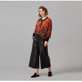 Amanda Wakeley   Printed Crepe De Chine Sweatshirt   M   Multicolor