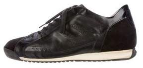 Cesare Paciotti Leather Low-Top Sneakers