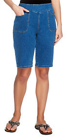 Denim & Co. As Is How Timeless Bermuda Shorts with Pockets