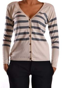 Sun 68 Women's White Cotton Cardigan.