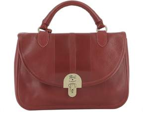 Red Leather Handle Bag