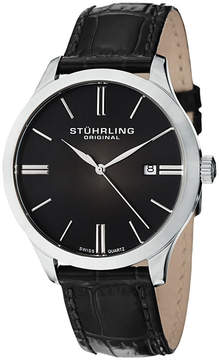 Stuhrling Original Mens Black Strap Watch-Sp12460