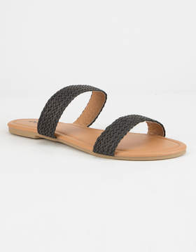 Qupid Braided Strap Womens Sandals