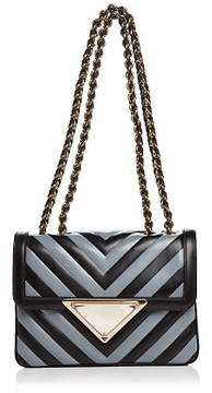 Sara Battaglia Elizabeth Small Leather Shoulder Bag