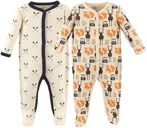 Hudson Baby Brown & Orange Forest Snap-Front Footie Set - Newborn & Infant