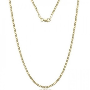 Alpha A A 14kt Yellow Gold Cuban Chain Necklace, 20