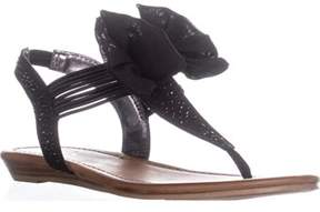 Material Girl Mg35 Swan1 Bow Detail Slingback Sandals, Black.