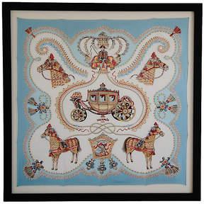 One Kings Lane Vintage Framed Hermès Silk Carriage Scarf