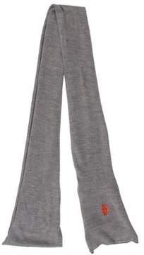 Balenciaga Fine Knit Wool Scarf