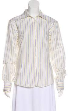 Brooks Brothers Striped Button-Up Top