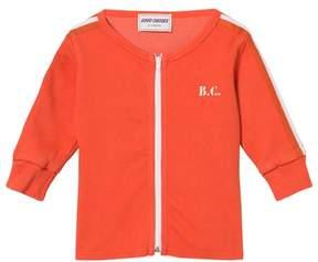 Bobo Choses Red Clay Team B.C Baby Zip Sweatshirt