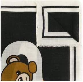 Moschino Toy bear striped scarf