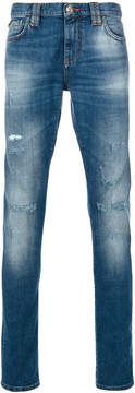 Philipp Plein light-wash skinny jeans