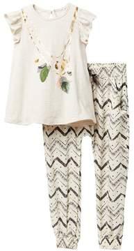 Jessica Simpson Printed Top & Pant Set (Toddler Girls)