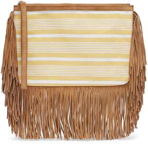Pierre Hardy x lemlem 'Liya' suede fringe stripe pouch