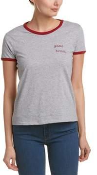 Cotton Candy Rib-trim T-shirt.