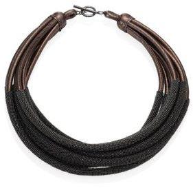 Brunello Cucinelli Tubular Leather Necklace