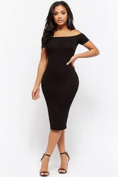 Forever 21 Ribbed Off-the-Shoulder Bodycon Dress