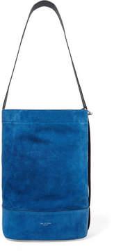 Rag & Bone Walker Sling Suede And Leather Bucket Bag - Blue