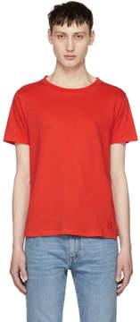 Saint Laurent Red Simple T-Shirt