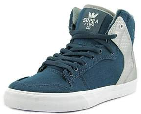 Supra Vaider Youth Round Toe Canvas Blue Skate Shoe.