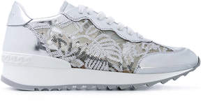 Casadei sequin lace panel sneakers