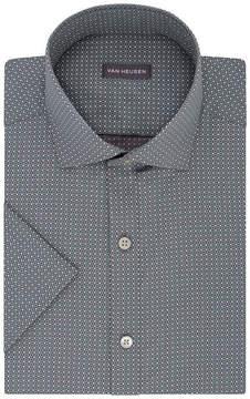 Van Heusen Short Sleeve Poplin Pattern Dress Shirt - Slim