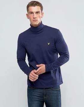 Lyle & Scott Roll Neck T-Shirt Navy