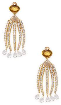 Bounkit Women's Convertible Quartz Chandelier Drop Earrings