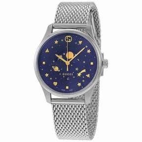 Gucci G-Timeless Blue Motifs Dial Men's Watch YA126328