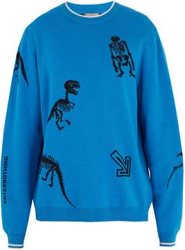 Lanvin Dinosaur-intarsia wool-blend sweater