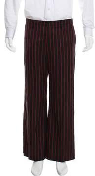 Balenciaga Cropped Logo Wool Pants w/ Tags