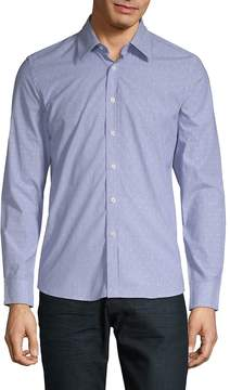 Hyden Yoo Men's Slim Dotted Cotton Button-Down Shirt