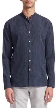 Loro Piana Mandarin Collar Stripe Shirt
