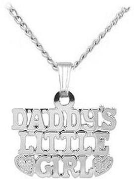 Ice Kids' Sterling Silver Daddy's Little Girl Pendant With Chain (15 inches)