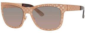 Neiman Marcus Gucci Sunsights Mirrored GG Texture Sunglasses