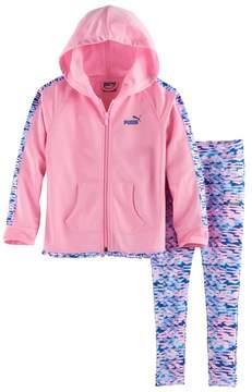 Puma Girls 4-6x Watercolor Hooded Jacket & Leggings Set