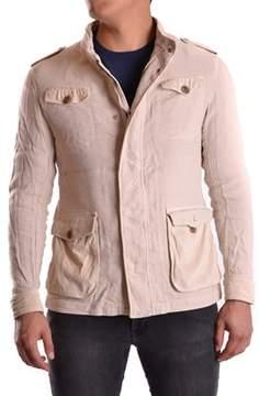 Armani Collezioni Men's Beige Viscose Outerwear Jacket.