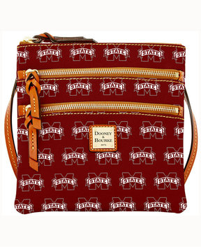 Dooney & Bourke Mississippi State Bulldogs Triple-Zip Crossbody Bag - MAROON - STYLE