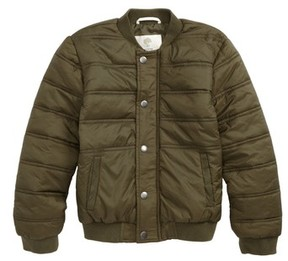Tucker + Tate Toddler Boy's Quilted Nylon Bomber Jacket